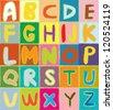Funny alphabet vector design - stock vector