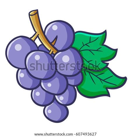 Funny Cute Blue Purple Grape Ready Stock Vector 607493627 ...