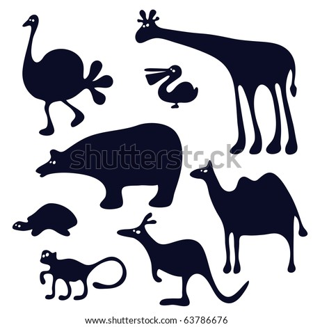 funny animals silhouette