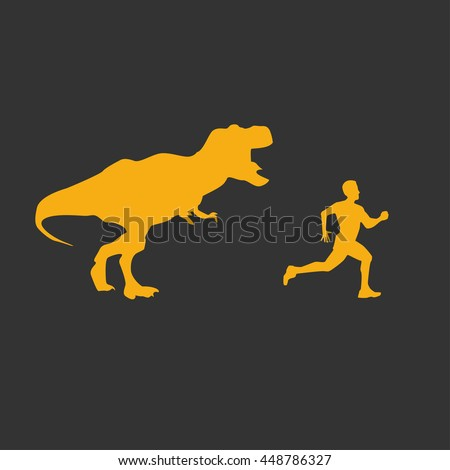 funny background dinosaur trex running after のベクター画像素材