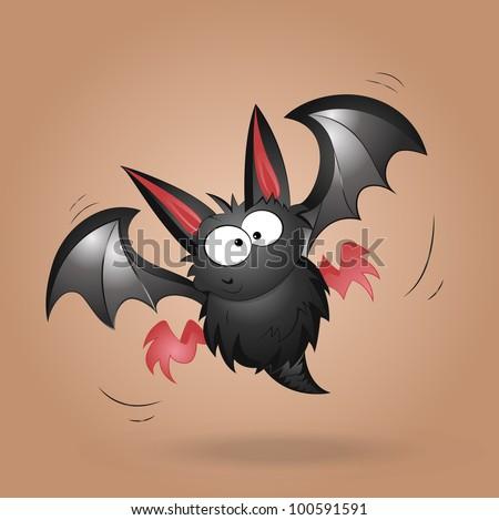 Funny Bat Vector - stock vector