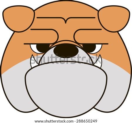 Funny Bulldog - stock vector