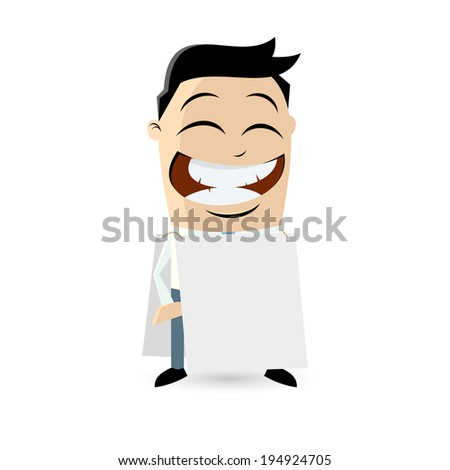 funny businessman with empty sign - stock vector