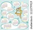 Funny Calendar 2013 - stock vector