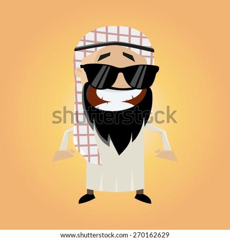 funny cartoon arab - stock vector