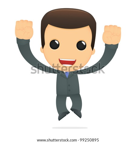 funny cartoon boss in various poses for use in advertising, presentations, brochures, blogs, documents and forms, etc.