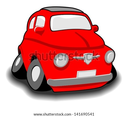 Funny cartoon car - stock vector