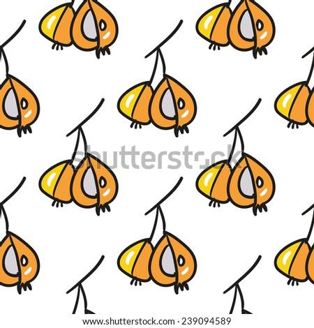 Funny cartoon double pear vector seamless pattern.  - stock vector