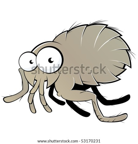 Cartoon flea - photo#44