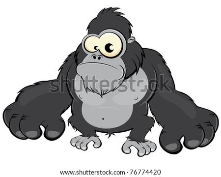 Gorilla Face Cartoon Funny Cartoon Gorilla