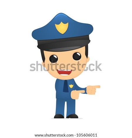 funny cartoon policeman in various poses for use in advertising, presentations, brochures, blogs, documents and forms, etc.