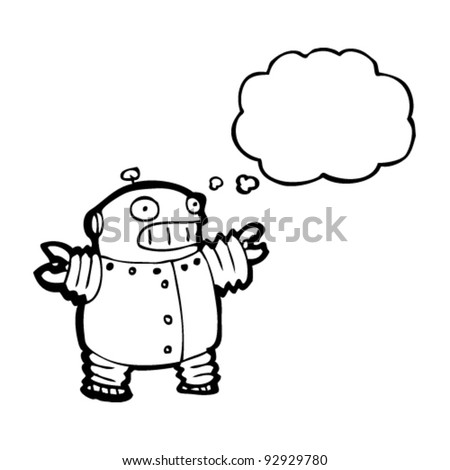 funny cartoon robot