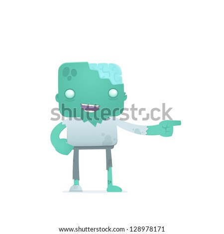 funny cartoon robot in various poses for use in advertising, presentations, brochures, blogs, documents and forms, etc.