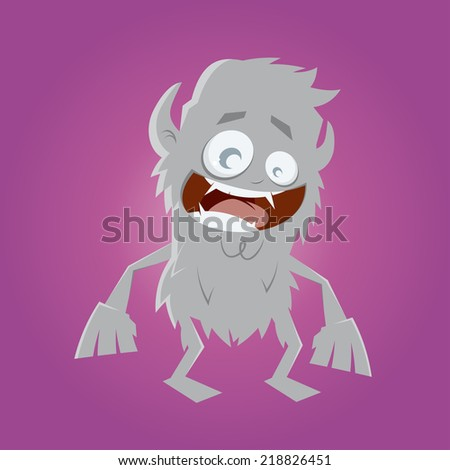 funny cartoon werewolf - stock vector