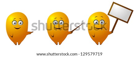 Funny character shows - stock vector
