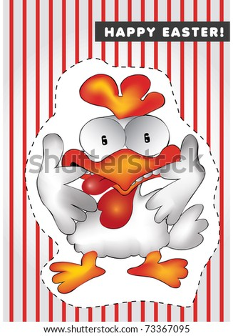 Funny chicken - stock vector