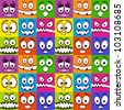 Funny colorful emotions seamless pattern. - stock