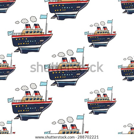 Funny Cute Hand Drawn Kids Toy Stock Vector Shutterstock - Baby on cruise ship