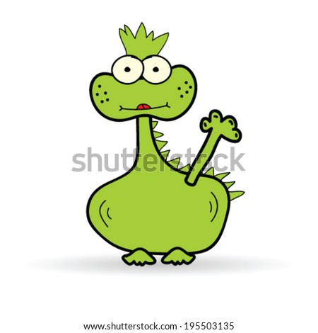 funny dinosaur color vector illustration