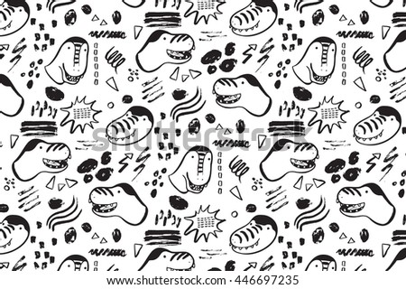 funny dinosaurs graphic color vector pattern