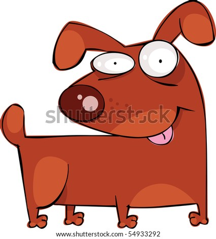 Funny dog - stock vector