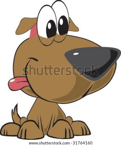 Funny Doggy - stock vector