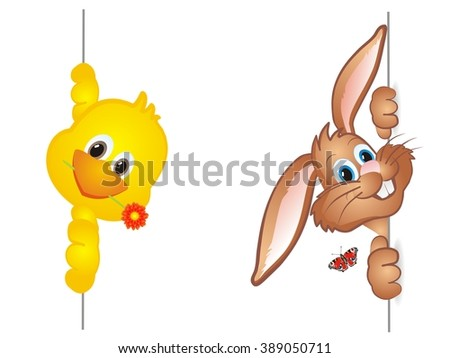 funny easter bunny brown rabbit cute stock vector royalty free