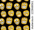 Funny faces seamless pattern. - stock vector