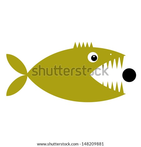 Funny fish cartoon for your design - stock vector