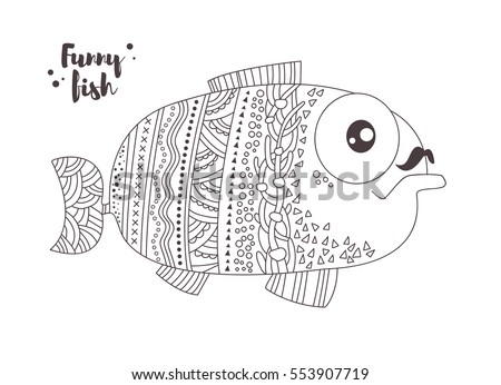 Coloring Book Pages Of Fish : Fish color stock images royalty free & vectors shutterstock