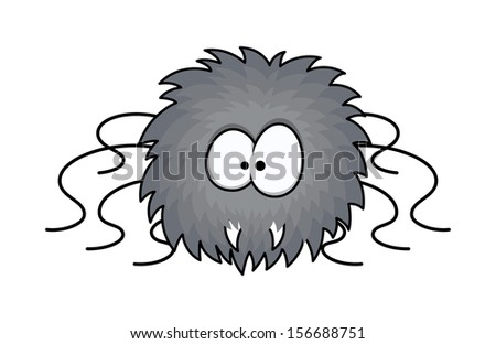 funny furry cute spider - Halloween vector illustration