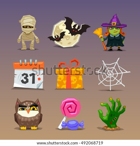 Funny halloween icons-set 2