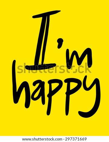 funny happy symbol sign - stock vector