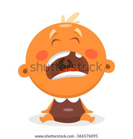 Funny kid. Vector illustration - stock vector