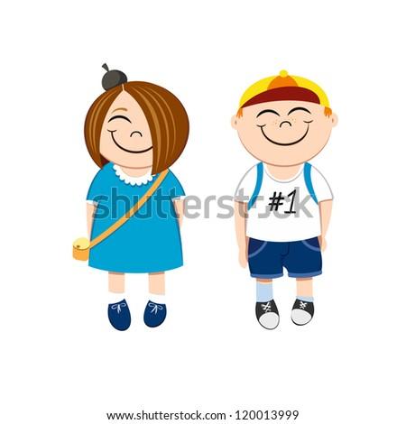 Funny Kids - stock vector
