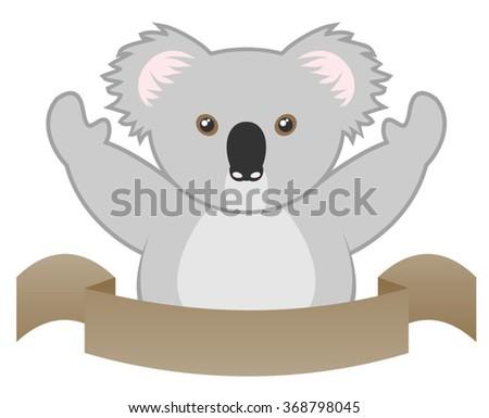 funny koala - stock vector