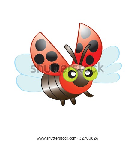 Funny Lady Bug - stock vector