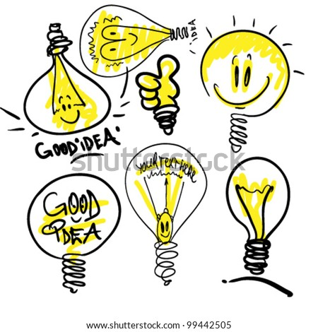 funny  lamps - stock vector