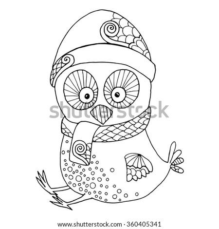 Funny little chicken illustration - stock vector