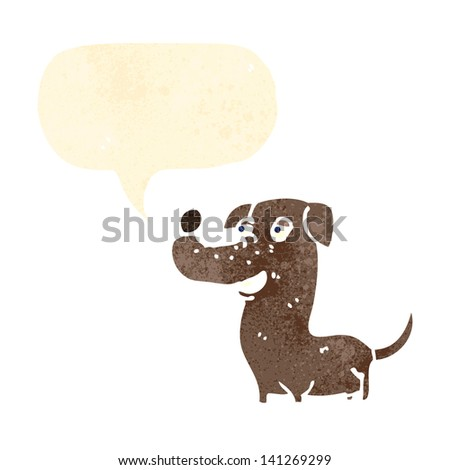 funny little dog cartoon - stock vector