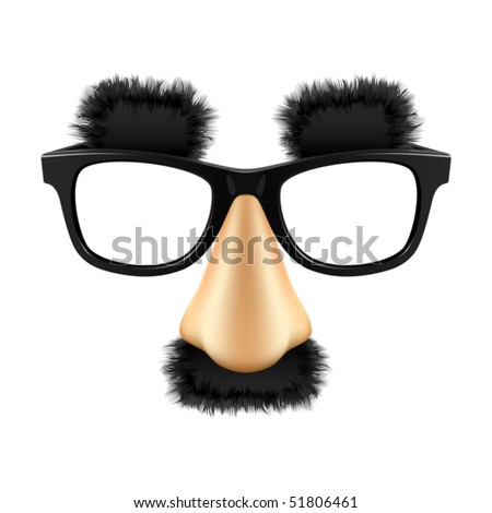 Funny mask. Vector. - stock vector