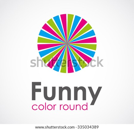 Funny of color round abstract vector and logo design or template circle art business icon of company identity symbol concept - stock vector