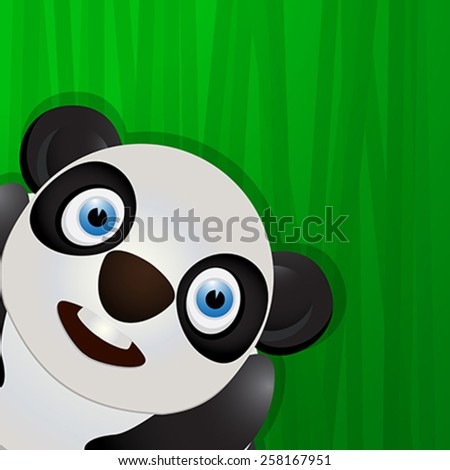 Funny panda avatar icon for web