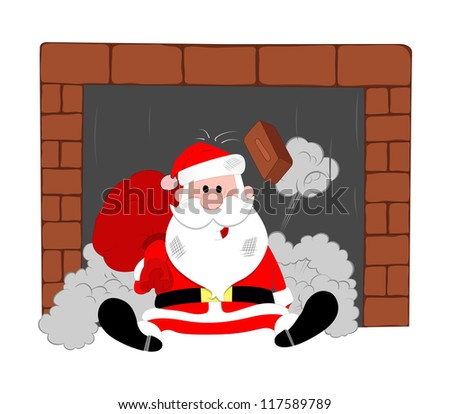 Funny Santa Vector - stock vector