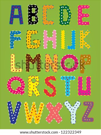 Funny vector alphabet - stock vector
