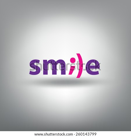"Funny vector scalable inscription ""SMILE"" - stock vector"