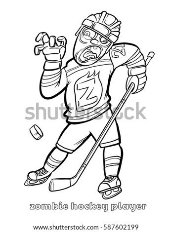 zombie football player coloring pages - photo#9