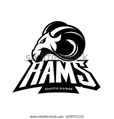furious ram sport club vector logo stock vector 629670257