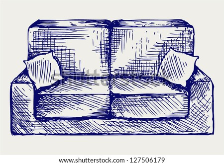 Furniture. Doodle style - stock vector