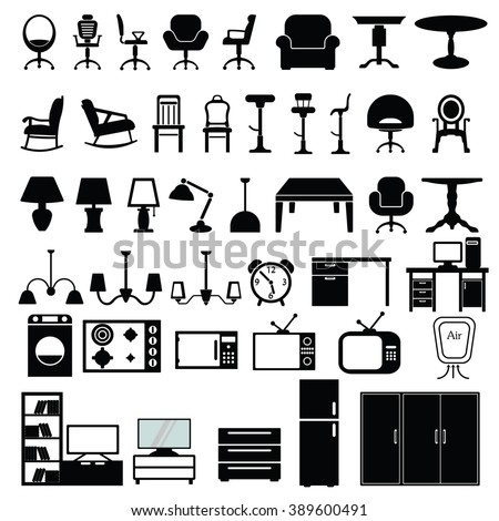 Furniture Icon Set Vector Illustration On The White Background